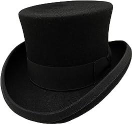 175c5850aef HATsanity Unisex Vintage Wool Felt Formal Tuxedo Topper Hat Black