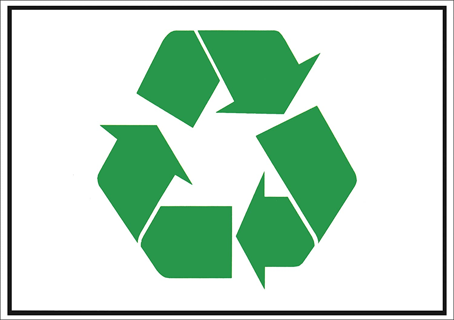 CarryaBigSticker Green Recycle Magnetic Sign Flexible 7.5 x 10.75 in Encourage Recycling Weather Resistant.