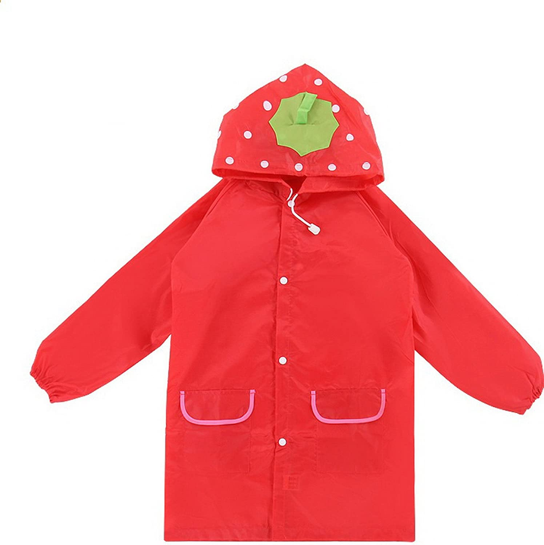 WSLCN Waterproof Coats Unisex Kids Poncho Funny Lightweight Cartoon Rain Suit Hooded Rain Jacket Girl Raincoat Boy