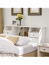 headboard with storage queen full size bookcase drawers wood white shelves modern bedroom headboard
