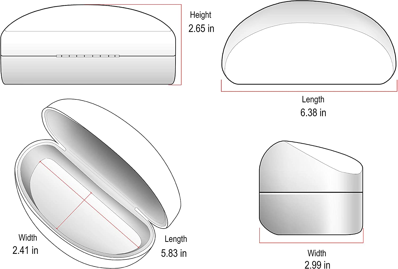 Edge I-Wear Large Hard Clamshell Sunglasses Case Women Eyewear Case Men B59 FL29-1