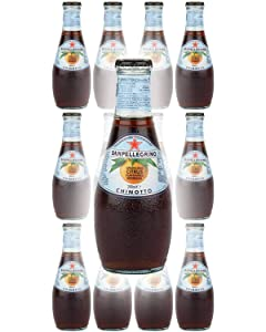 San Pellegrino Chinotto Sparkling Citrus Flavoured Beverage, 6.75 Oz Glass Bottle (Pack of 12, Total of 81 Oz)