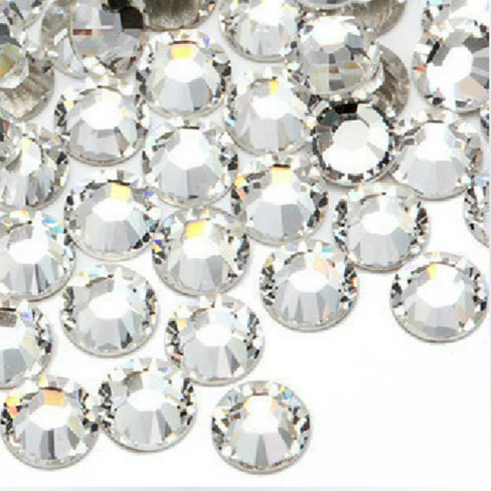 Kanggest 1440Pcs SS6 Rhinestones de la Parte Posterior Plana Diamantes Piedra Preciosa Cristalina Redonda Para las Artes de DIY Decoraciones del Clavo Del teléfono diámetro 2.0mm