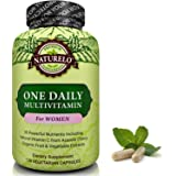 NATURELO One Daily Multivitamin for Women - Best for Hair, Skin Nails - Natural Energy Support - Whole Food Supplement - Non-GMO - No Soy - Gluten Free - 120 Capsules   4 Month Supply