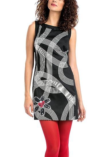 d0261c8b2b0e8 Robe Desigual Laila xt Taille 46 couleur Noir  Amazon.fr  Vêtements ...