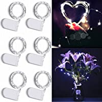 6-Pack Cuucor 7ft 20 Micro LED Silver Copper Wire Firefly Starry Lights for Bedroom DIY Party Wedding Christmas Decorations