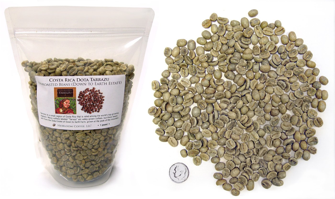 Costa Rica Dota Estate, Green Unroasted Coffee Beans, 1lb by Heirloom Coffee LLC