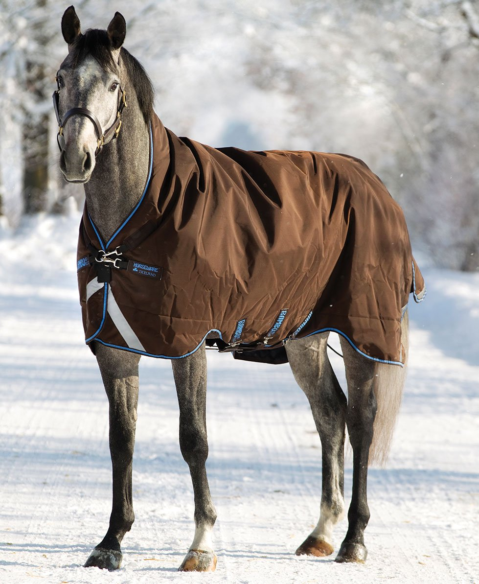 115 Rambo Stable Heavy Rug 400G Brown Beige 66 5ft 6