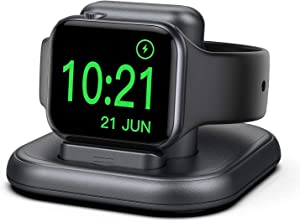Conido Charging Stand for Apple Watch, Watch Charger Stand with Charging Cable, Magnetic Wireless Charging Station Compatible with Apple Watch SE Series 6/5/4/3/2/1/44mm/42mm/40mm/38mm- Gray