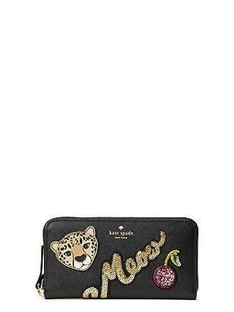 lowest price cf958 816a1 KATE SPADE Run Wild Leopard Neda Zip around Women's Leather Wallet