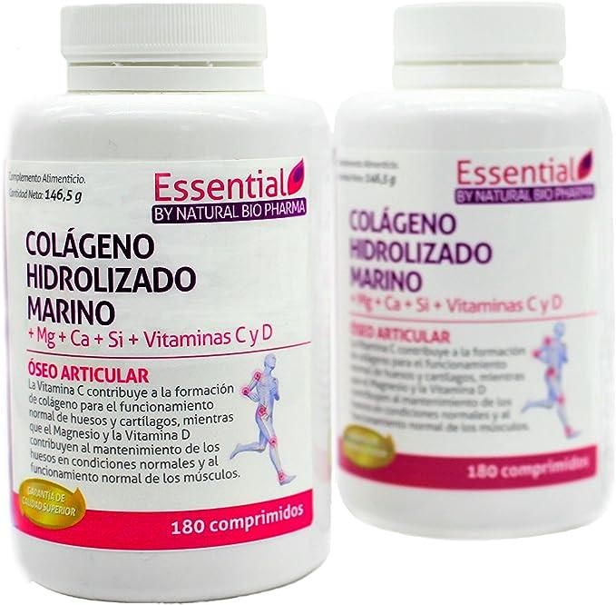 NATURAL PHARMA COLAGENO HIDROLIZADO MARINO - Magnesio Calcio - Vitamina C y D. Colágeno marino hidrolizado con magnesio. Suplementos vitamínicos para tus huesos, dolor en articulaciones.: Amazon.es: Salud y cuidado personal