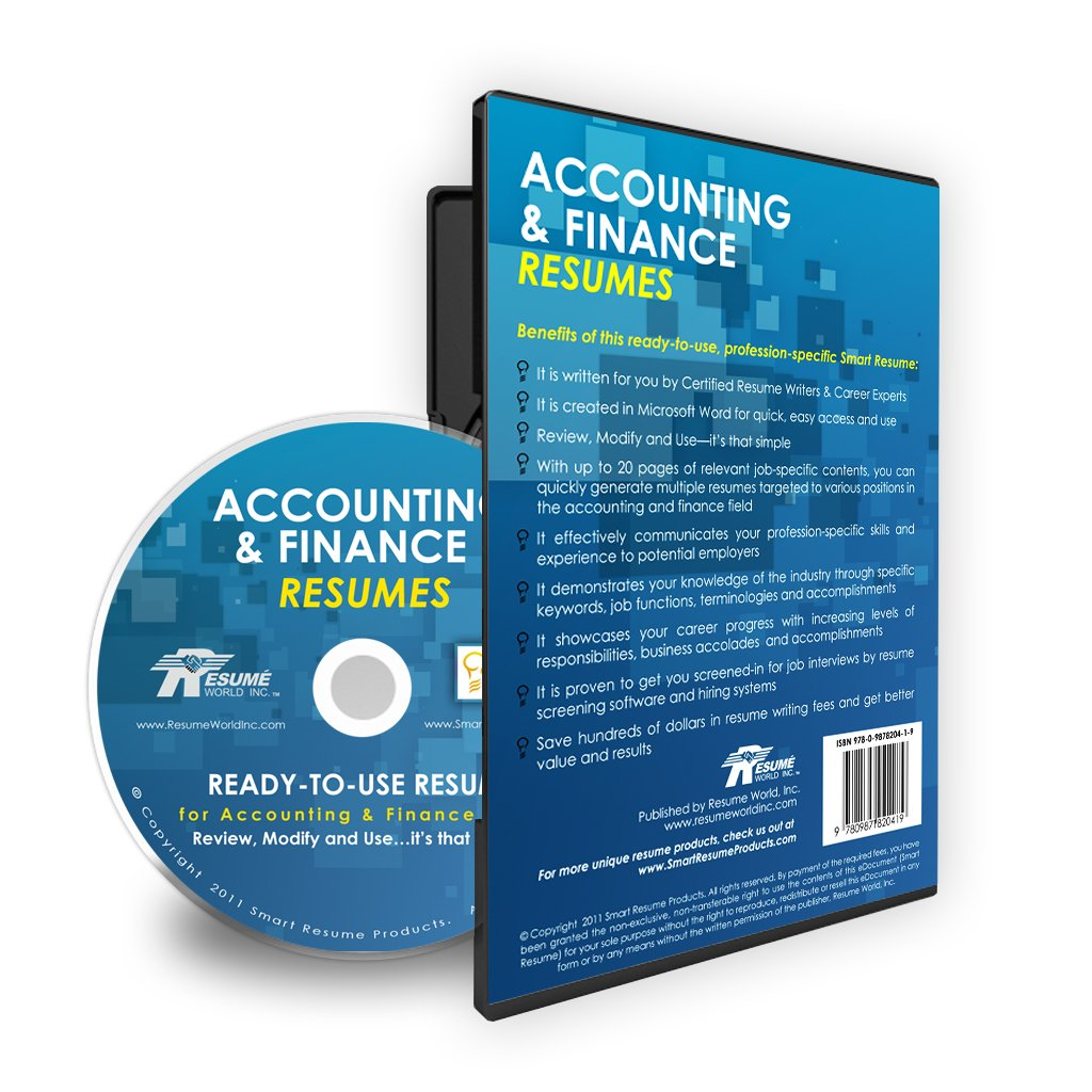 accounting finance resumes job winning ready to use master