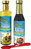 Coconut Aminos Variety Pack by Coconut Secret: (1) Coconut Aminos Soy Free Sauce, 8 Oz. And (1) Coconut Vinegar Raw Organic With The Mother Culture, 12.7 Oz. BONUS MEASURING SPOON INCLUDED.