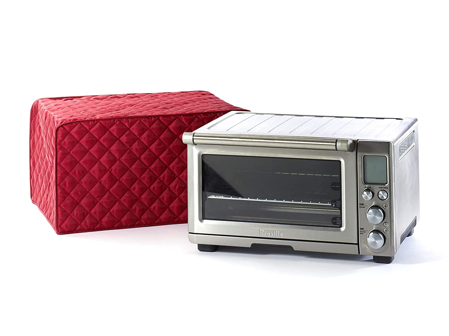 CoverMates – Toaster Oven Cover – 16W x 10D x 9H – Diamond Collection – 2 YR Warranty – Year Around Protection - Red