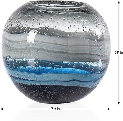 Torre Tagus Andrea Handmade Swirl Glass Sphere Vase