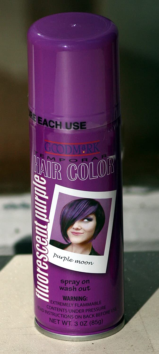 e094861233f Amazon.com   Spray On Wash Out Purple Hair Color Temporary Hairspray Great  For Costume or Halloween Party Stage Concert Rave Hair Spray   Chemical  Hair Dyes ...