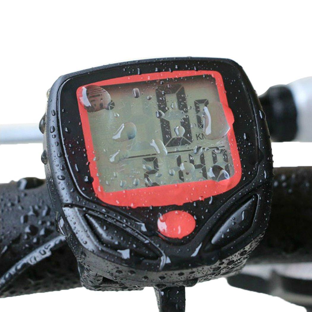 Eshion Digital LCD Bike Computer Odometer Speedometer Velometer LED Backlight