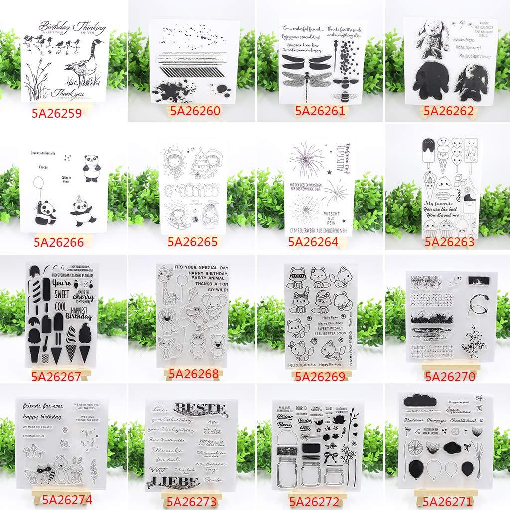 fogun timbri trasparenti Clear Stamp Scrapbooking Stamp in silicone per DIY Hobby Creativi decorazione regalo Noel bambino