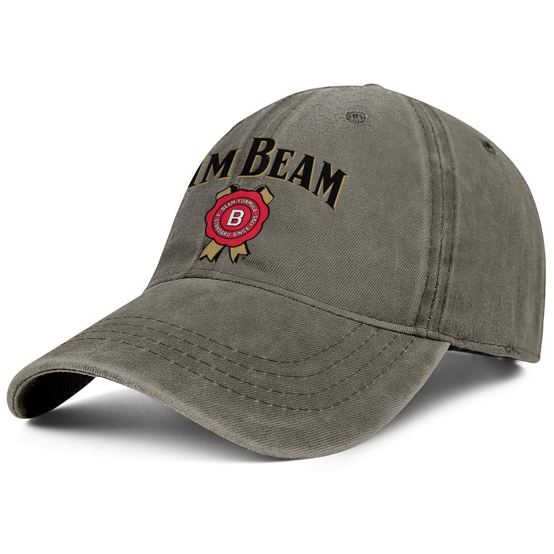 Unisex Adjustable Jim-Beam-Logo-Whiskey-Symbol-Pattern-Baseball Caps Breathable Flat Hats