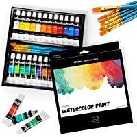 Watercolor Paint Tubes, 24 Water Colors Ohuhu Art Watercolors Painting Kit for Artists, Students, Beginners, Water-color…