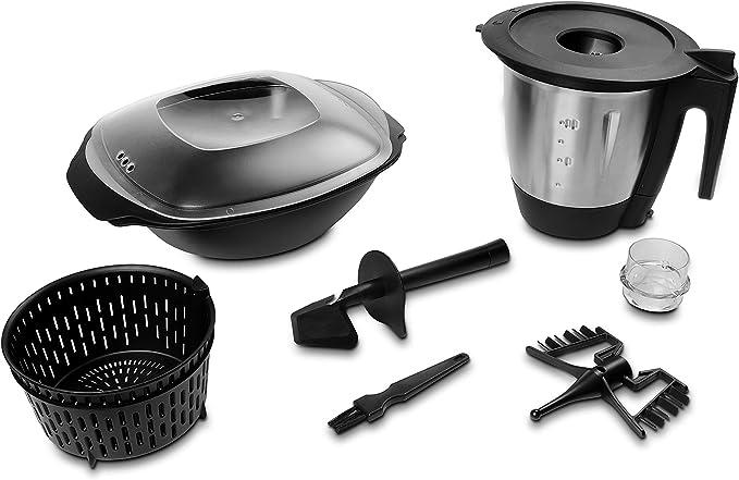Medion MD 16361 Robot de cocina con función de cocción, potencia 1000 W, 2 litros Acero inoxidable Mix accesorio, color blanco: Amazon.es: Hogar