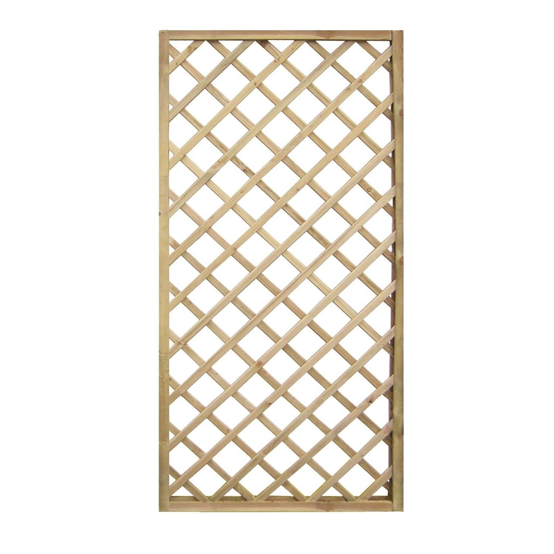 Pannello in legno Rettangolare ECO impregnato in autoclve a rete da esterno giardino recinzioni divisori 90x180 cm EV