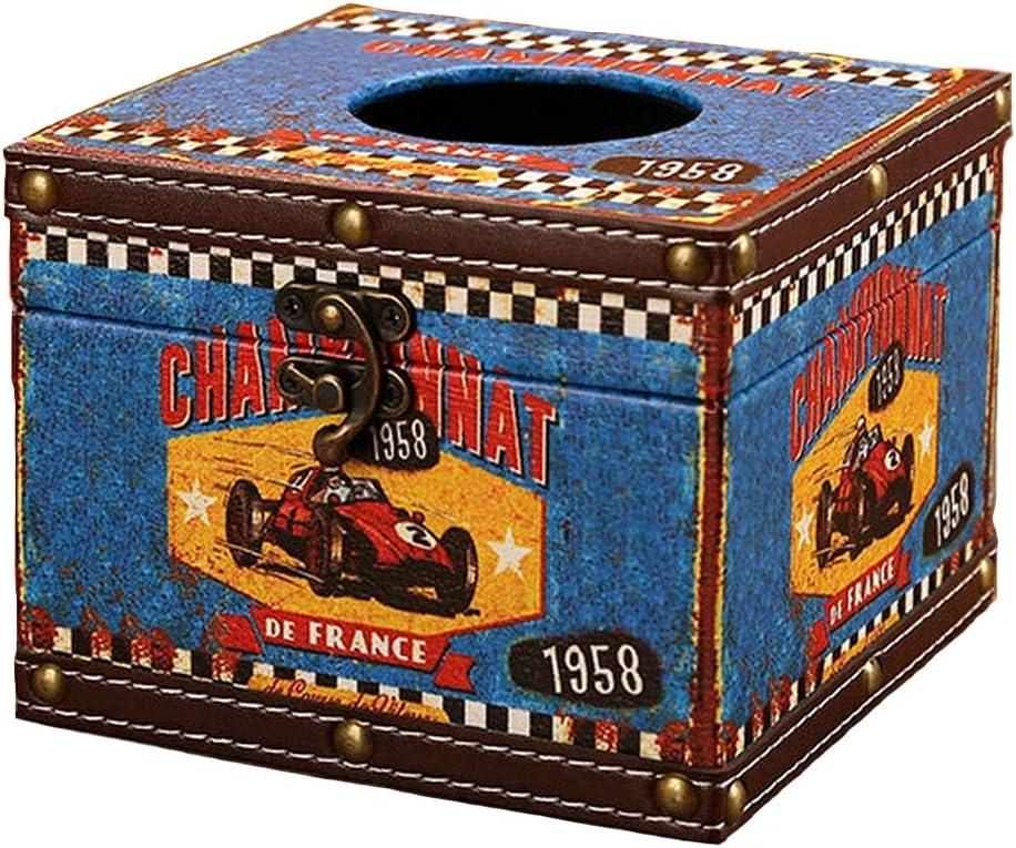 1958 Racing Car Ukerdo Ancien Style Classique Napkin Bo/îtes Carr/é M/étal Serrure Cuisine Bureau H/ôtel Bureau Tissu Bo/îtes Maison D/écoration Porte-Tissus