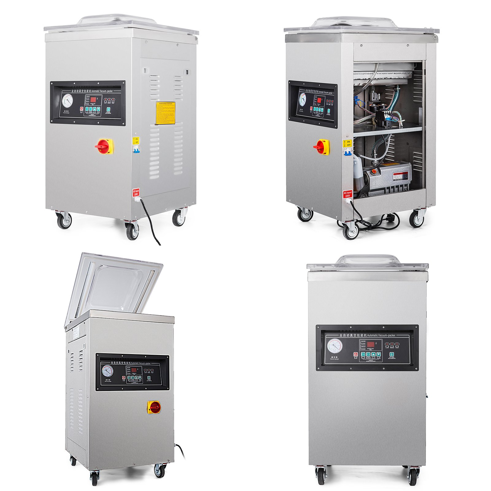 Happybuy DZ-400/2E Chamber Vacuum Sealer 1000W Vacuum Sealer Machine Automatic Vacuum Packing Sealing Sealer Machine for Home or Commercial Use (DZ-400/2E) by Happybuy (Image #5)