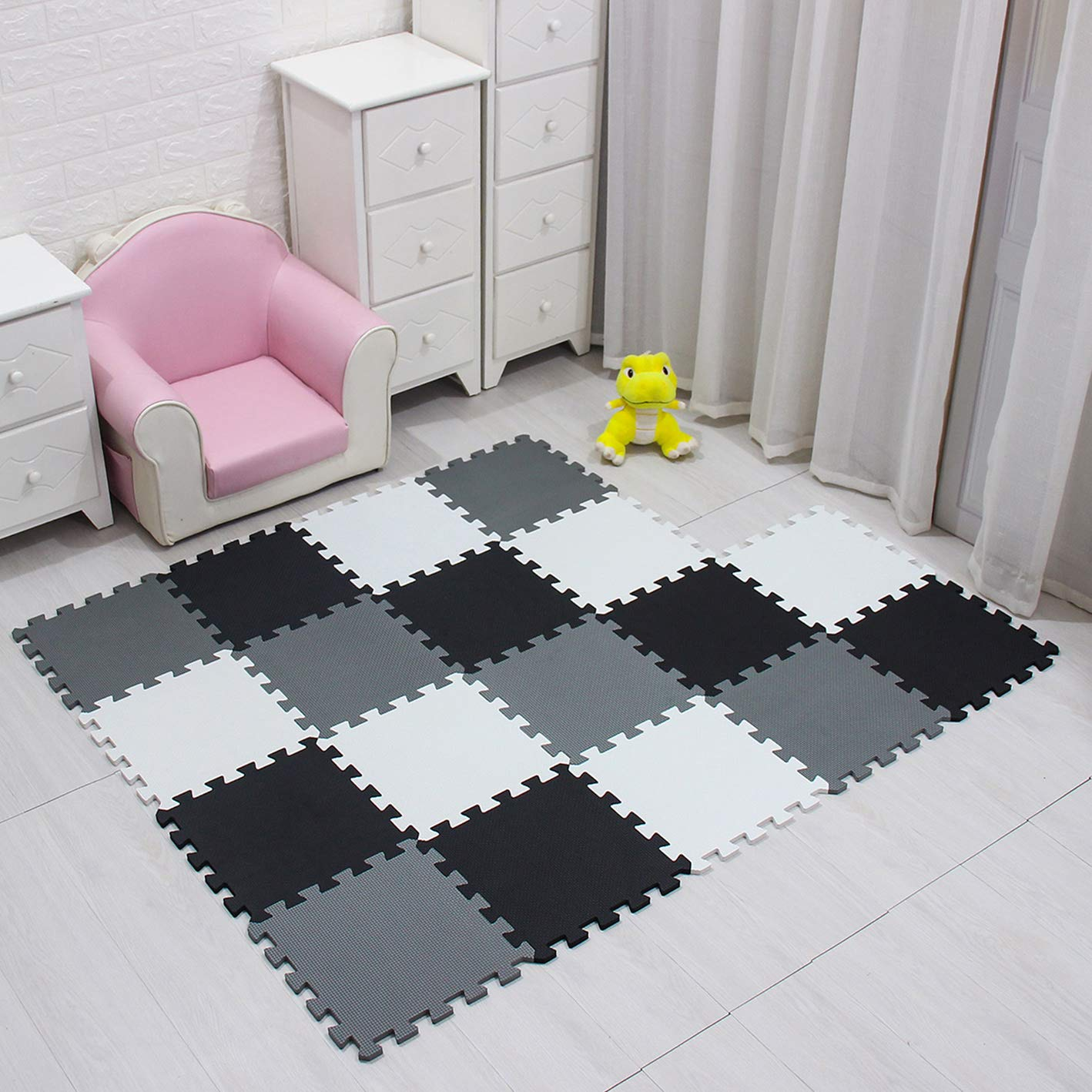 MQIAOHAM children puzzle mat play mat squares foam play mat tiles baby mats for floor puzzle puzzle mat childrens soft play mats girl playmat carpet interlocking foam floor mats for baby beige 110