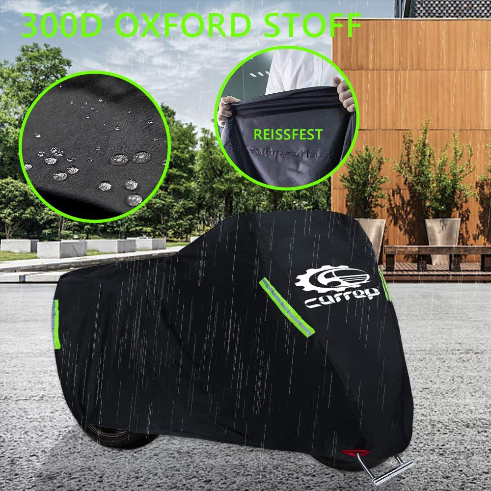 Resistente a los Rayos UV. Impermeable Cubierta de Motocicleta Mejorada Resistente a la Rotura Cubierta de Ruedas para Exteriores contra la Lluvia de Polvo