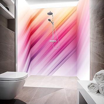 Mampara de ducha de aluminio compuesta como placa individual o juego de placas para ducha de esquina corte a medida – Diseño de cebra rosa W1: Amazon.es: Bricolaje y herramientas