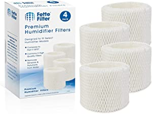 Fette Filter – Humidifier Wicking Filters Compatible with Vicks & Kaz. Compare to Part # WF2 (Pack of 4)