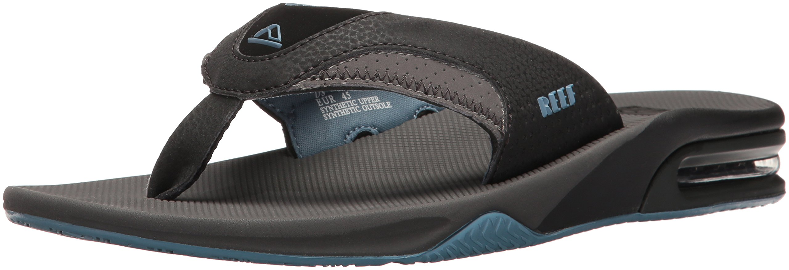 Reef Men's Fanning Flip-Flop Grey/Light Blue 11 M US