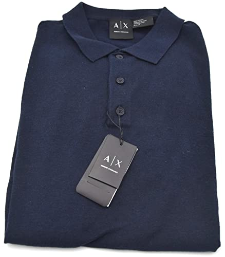 5bbce5ea75da ARMANI EXCHANGE MAN POLO SHIRTS SPRING SHORT SLEEVE ART. 3ZZM2E ZMJ4Z EU L  - USA L BLU NAVY  Amazon.co.uk  Shoes   Bags