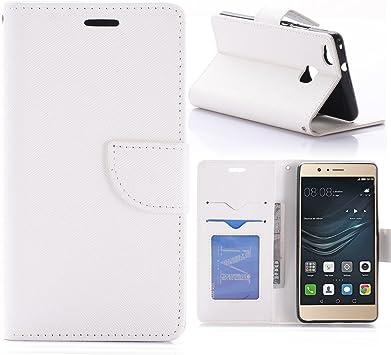 Etui Huawei P9 Lite Tarjetero Uni Blanco – Crazy Kase: Amazon.es ...