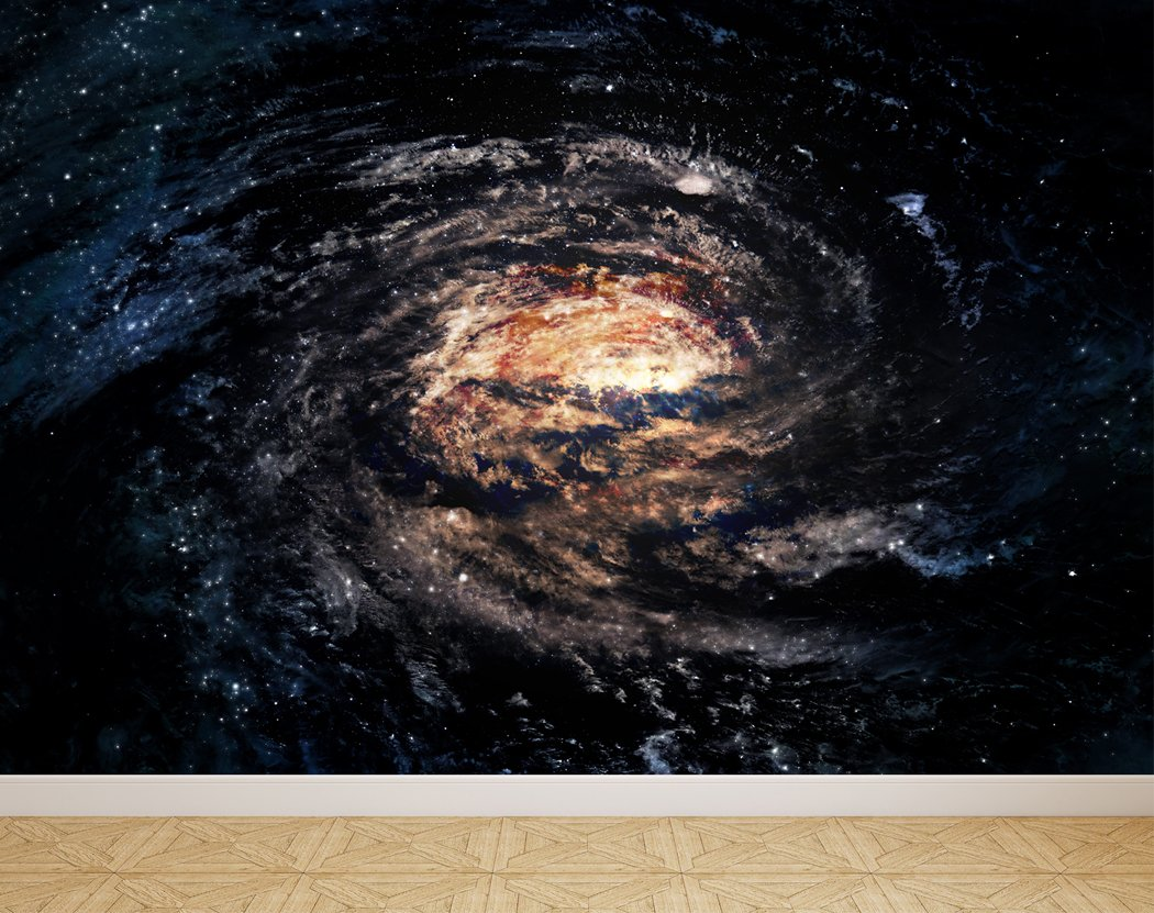 Wall Mural Spiral Galaxy In Space Peel And Stick Repositionable