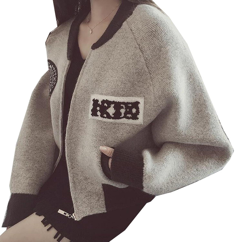 MLG Women Casual Patch Round Collar Cardigan MIB Sweater