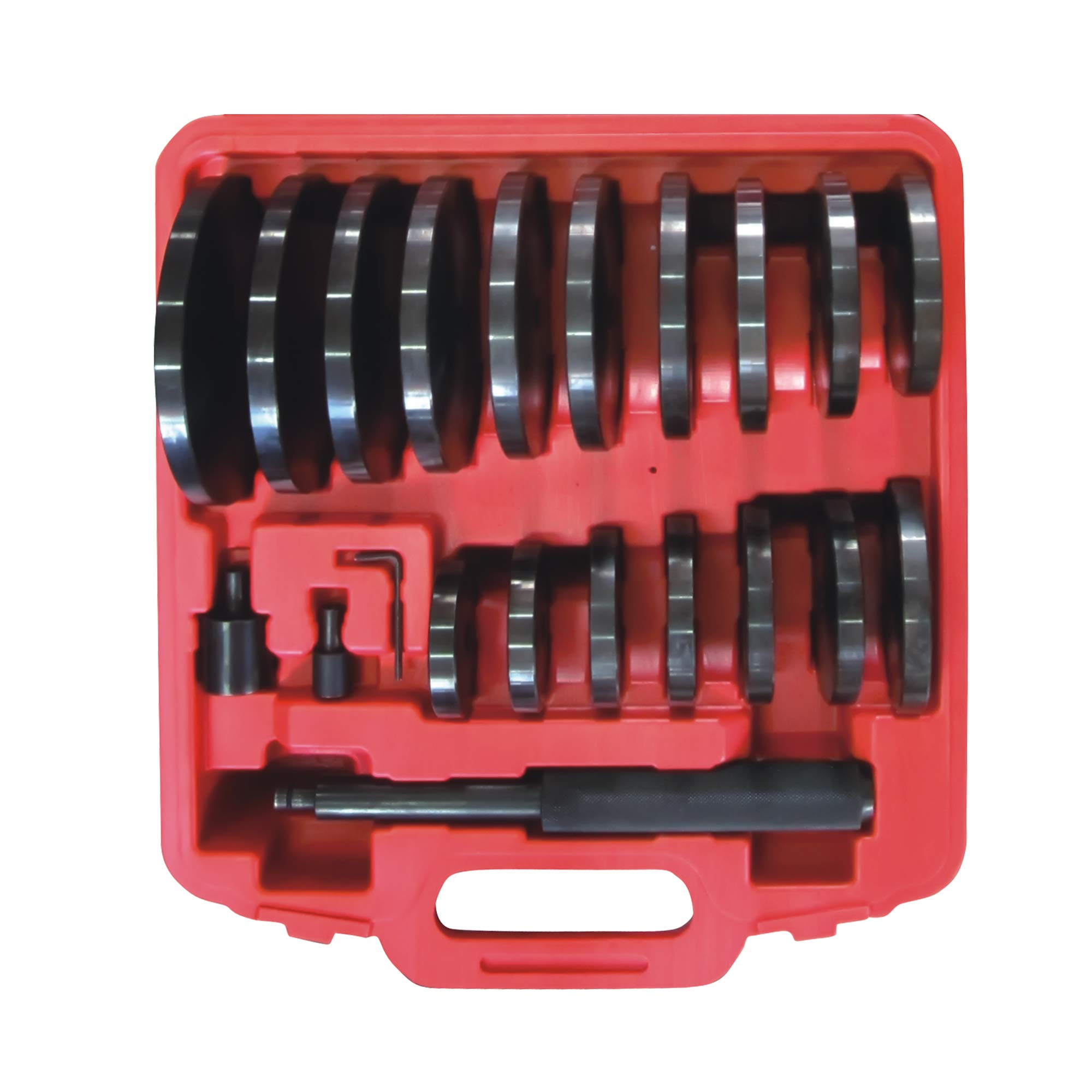 WINTOOLS 21Pcs Extra Large Custom Bush, Bearing, and Seal Driver Set Hydraulic Press by WINTOOLS (Image #1)