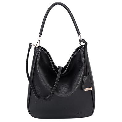 e103729e589 Image Unavailable. Image not available for. Color  DAVID - JONES  INTERNATIONAL Women s Black Hobo Handbags Purses Faux Leather ...
