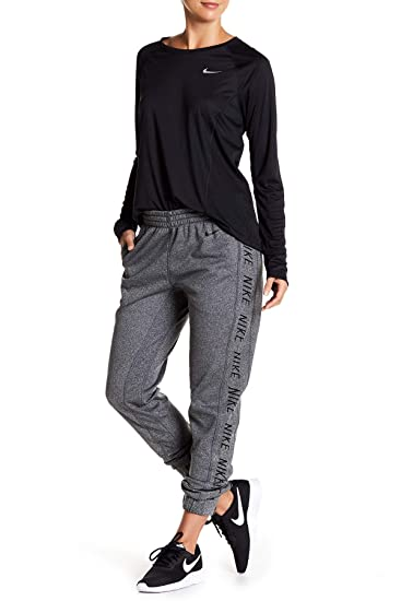 half off color brilliancy new varieties Women's Nike Therma Jogger Pant - Black -: Amazon.co.uk ...