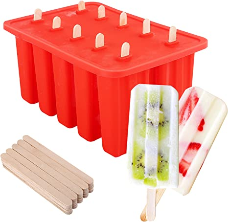 Make Your Own Ice Pops Eddingtons Duo Lolly Ice Lolly Mould /& Tray Set of 4