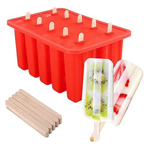 Amazon.com: Nuovoware - Moldes para helados de silicona de ...
