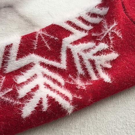 Maglione natalizio rosso corto spesso maglione donna sciolto