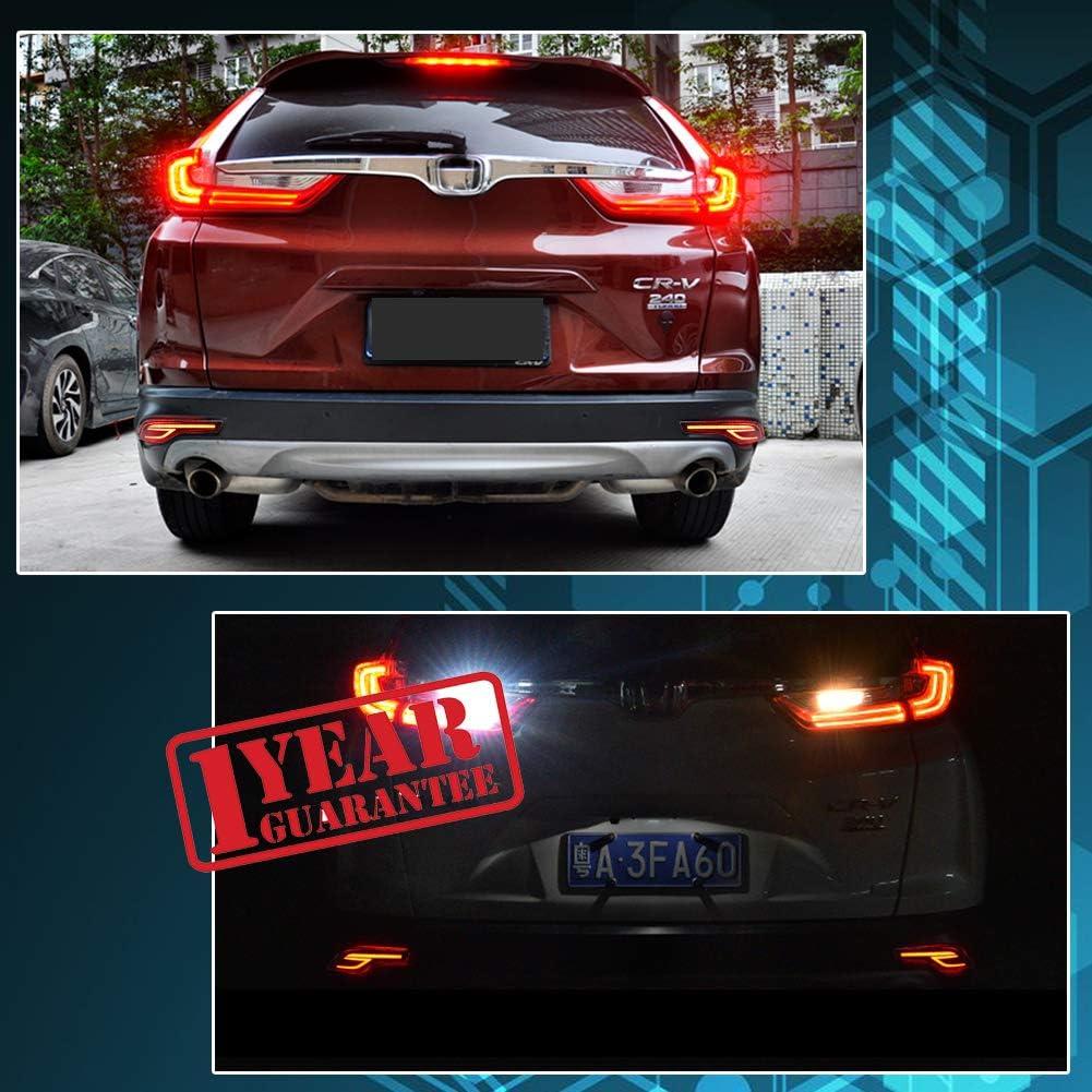Brake light /& Tail Light Lamps For 2017 2018 2019 Honda CRV CR-V 2PCS LED Rear Bumper Reflectors Red Rear Fog Light