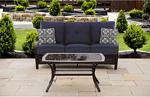 Hanover ORLEANS2PC-B-NVY Orleans 2 Piece Patio Set