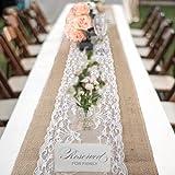 Jute-Tischläufer im Vintage-Look, 30x 275cm, rustikal, Sackleinen, für Hochzeit, Feier, Party, Evendekorationen 1pack