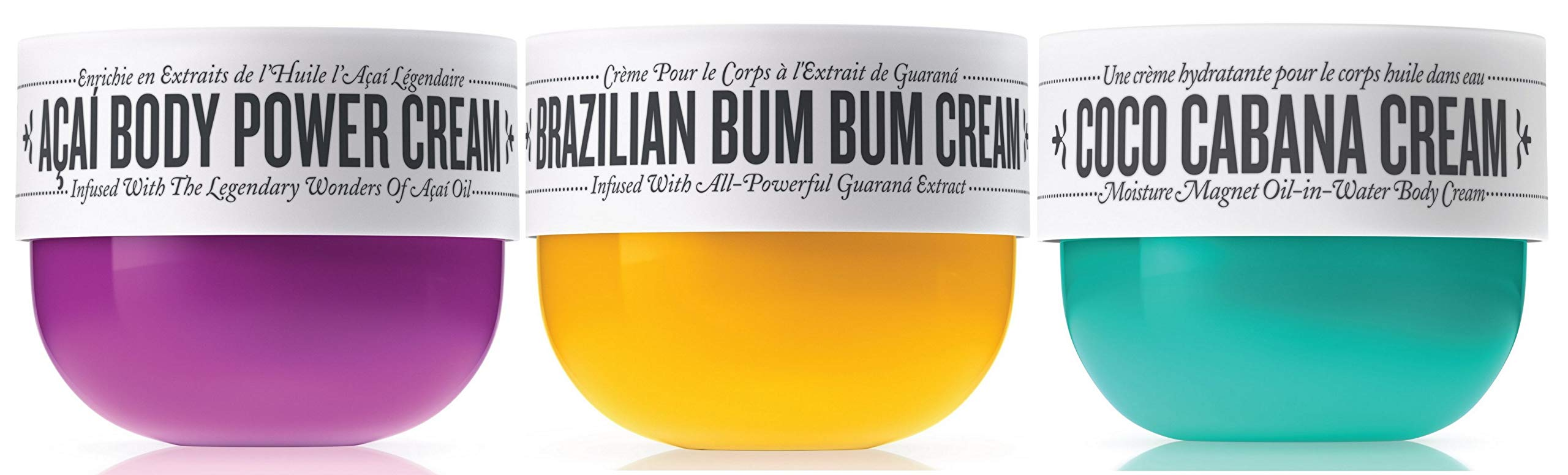 Sol de Janeiro Brazilian Bum Bum Cream, Coco Cabana Cream and Acai Body Power Cream Trio (75ml) - Bundle 3 pack
