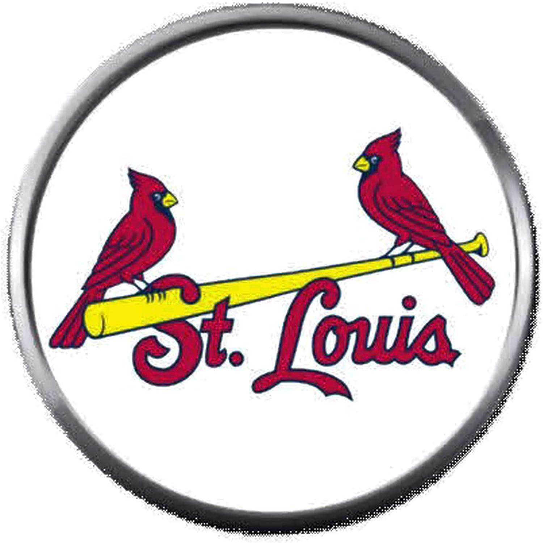Amazon Com 2 St Louis Cardinals On Bat Mlb Baseball Logo 18mm 20mm Snap Jewelry Charm Jewelry