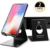 Phone Stand, Lamicall Phone Dock [2 Pack] : Universal Stand, Cradle, Holder, Dock Compatible with Phone Xs Xs Max XR X 8 7 6S Plus 5S 4S, HUAWEI, Samsung S7 S8, other Smart Phones - Black