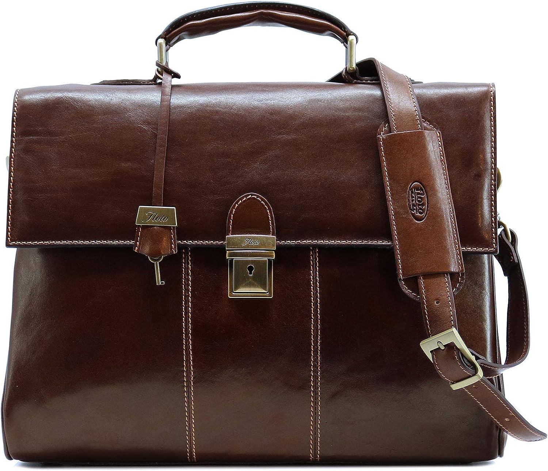 Floto Laptop Messenger Bag Briefcase Venezia in Full Grain Leather